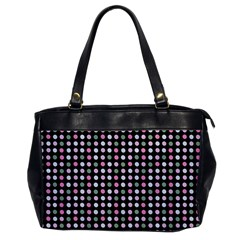 Pink Green Eggs On Black Office Handbags by snowwhitegirl