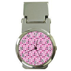 Grey Magenta Eggs On Pink Money Clip Watches by snowwhitegirl