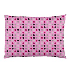 Grey Magenta Eggs On Pink Pillow Case by snowwhitegirl