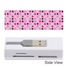 Grey Magenta Eggs On Pink Memory Card Reader (stick)  by snowwhitegirl