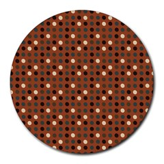 Grey Eggs On Russet Brown Round Mousepads by snowwhitegirl