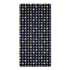 Beige Blue Cream Eggs On Grey Blue Shower Curtain 36  X 72  (stall)  by snowwhitegirl