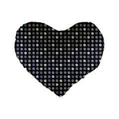 Beige Blue Cream Eggs On Grey Blue Standard 16  Premium Heart Shape Cushions by snowwhitegirl