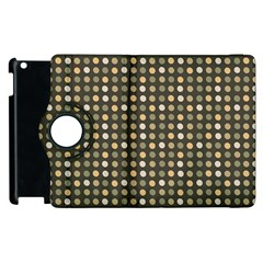 Grey Beige Eggs On Dark Grey Apple Ipad 3/4 Flip 360 Case by snowwhitegirl