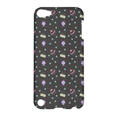 Cakes Yellow Pink Dot Sundaes Grey Apple Ipod Touch 5 Hardshell Case by snowwhitegirl