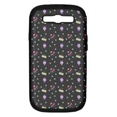 Cakes Yellow Pink Dot Sundaes Grey Samsung Galaxy S Iii Hardshell Case (pc+silicone) by snowwhitegirl