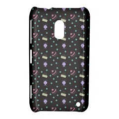 Cakes Yellow Pink Dot Sundaes Grey Nokia Lumia 620 by snowwhitegirl