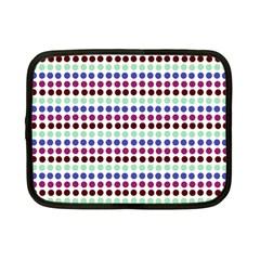 Multi White Dots Netbook Case (small)  by snowwhitegirl