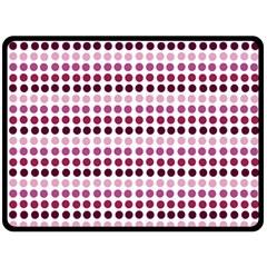 Pink Red Dots Double Sided Fleece Blanket (large)  by snowwhitegirl