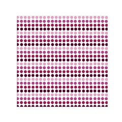 Pink Red Dots Small Satin Scarf (square) by snowwhitegirl