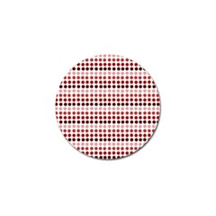Reddish Dots Golf Ball Marker (10 Pack)