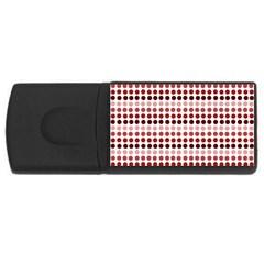 Reddish Dots Rectangular Usb Flash Drive by snowwhitegirl