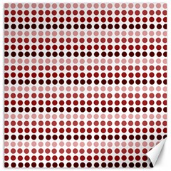 Reddish Dots Canvas 16  X 16   by snowwhitegirl