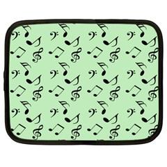 Mint Green Music Netbook Case (xl)  by snowwhitegirl