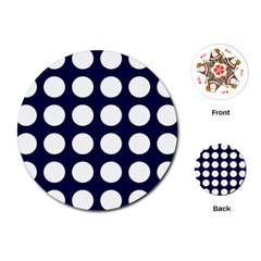 Big Dot Blue Playing Cards (round)  by snowwhitegirl
