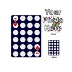 Big Dot Blue Playing Cards 54 (Mini)  Front - Heart7