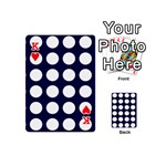 Big Dot Blue Playing Cards 54 (Mini)  Front - HeartK