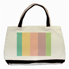 Ice Cream Lines Basic Tote Bag (two Sides) by snowwhitegirl