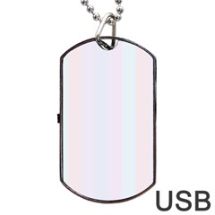 Albino Pinks Dog Tag Usb Flash (two Sides) by snowwhitegirl