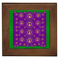 Peace Be With Us In Love And Understanding Framed Tiles by pepitasart