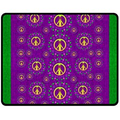 Peace Be With Us In Love And Understanding Fleece Blanket (medium)  by pepitasart