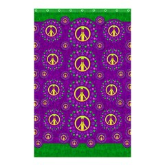 Peace Be With Us In Love And Understanding Shower Curtain 48  X 72  (small)  by pepitasart