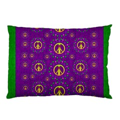 Peace Be With Us In Love And Understanding Pillow Case (two Sides) by pepitasart
