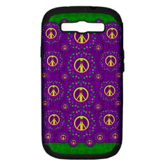 Peace Be With Us In Love And Understanding Samsung Galaxy S Iii Hardshell Case (pc+silicone) by pepitasart