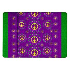 Peace Be With Us In Love And Understanding Samsung Galaxy Tab 10 1  P7500 Flip Case by pepitasart