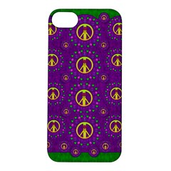 Peace Be With Us In Love And Understanding Apple Iphone 5s/ Se Hardshell Case by pepitasart