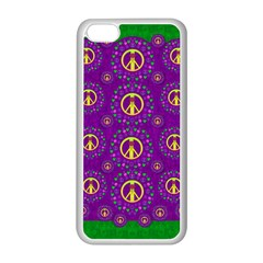 Peace Be With Us In Love And Understanding Apple Iphone 5c Seamless Case (white) by pepitasart