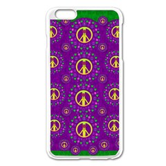 Peace Be With Us In Love And Understanding Apple Iphone 6 Plus/6s Plus Enamel White Case by pepitasart