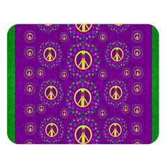 Peace Be With Us In Love And Understanding Double Sided Flano Blanket (large)  by pepitasart