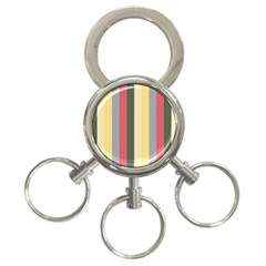 Summer Rose 3 Ring Key Chains