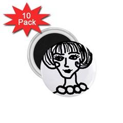 20s Girl 1 75  Magnets (10 Pack)  by snowwhitegirl