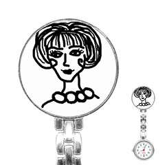 20s Girl Stainless Steel Nurses Watch by snowwhitegirl