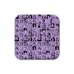 Lilac Yearbok Rubber Square Coaster (4 Pack)  by snowwhitegirl