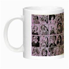 Lilac Yearbok Night Luminous Mugs by snowwhitegirl