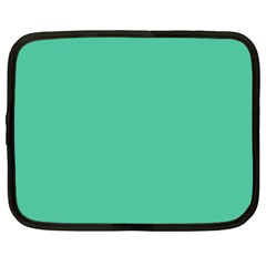 Seafoamy Green Netbook Case (xxl)  by snowwhitegirl