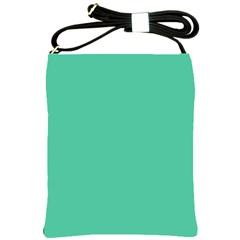 Seafoamy Green Shoulder Sling Bags by snowwhitegirl