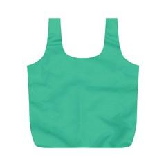 Seafoamy Green Full Print Recycle Bags (m)  by snowwhitegirl