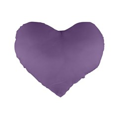 Grape Light Standard 16  Premium Flano Heart Shape Cushions by snowwhitegirl