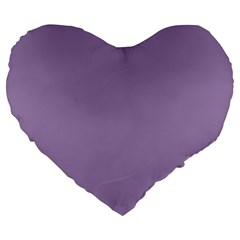 Grape Light Large 19  Premium Flano Heart Shape Cushions by snowwhitegirl