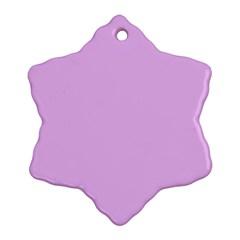 Baby Purple Snowflake Ornament (two Sides) by snowwhitegirl