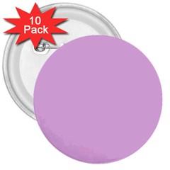 Pink Flowers 3  Buttons (10 Pack)  by snowwhitegirl