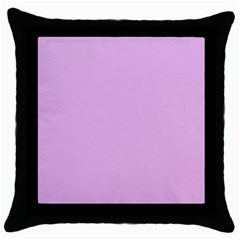 Pink Flowers Throw Pillow Case (black) by snowwhitegirl