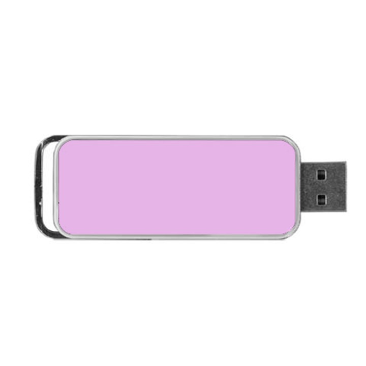 Pink Flowers Portable USB Flash (One Side)