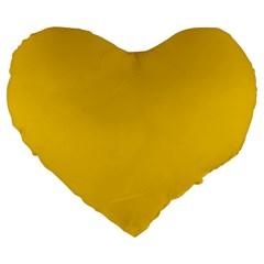 Cheesy Large 19  Premium Flano Heart Shape Cushions by snowwhitegirl