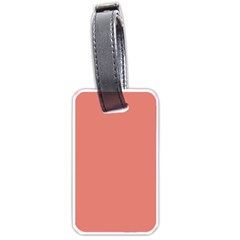 Late Peach Luggage Tags (one Side)  by snowwhitegirl