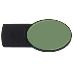 Army Green Usb Flash Drive Oval (2 Gb) by snowwhitegirl